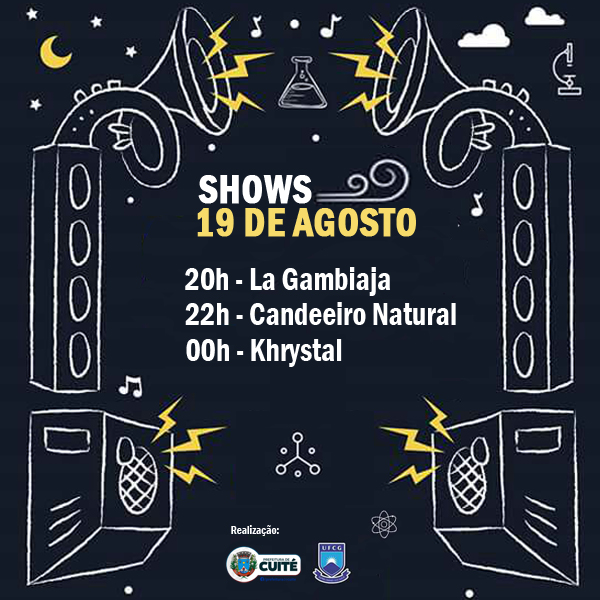 Shows do dia 19 08